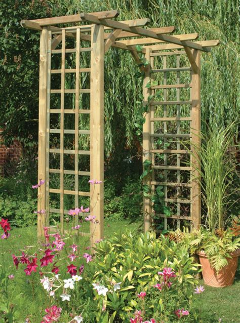 how to create a rose trellis arch how tos diy subtly direct the traffic in your garden with an archway