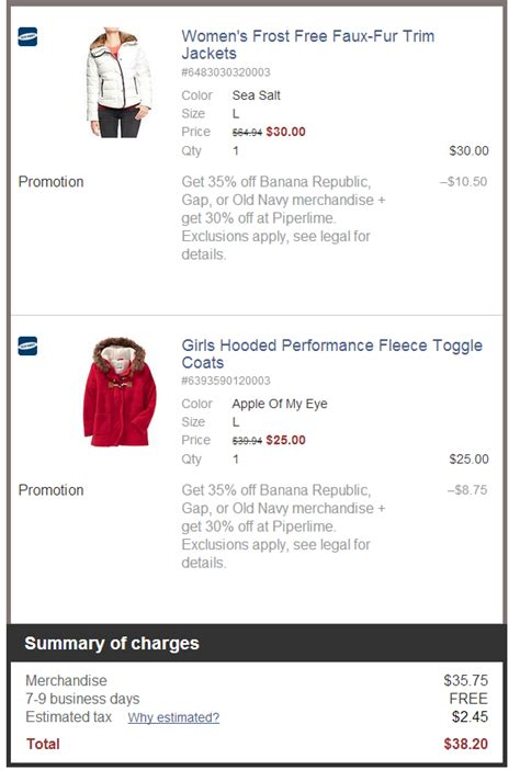 old navy coupons that work old navy coupon code 35 off outwear sale works gap