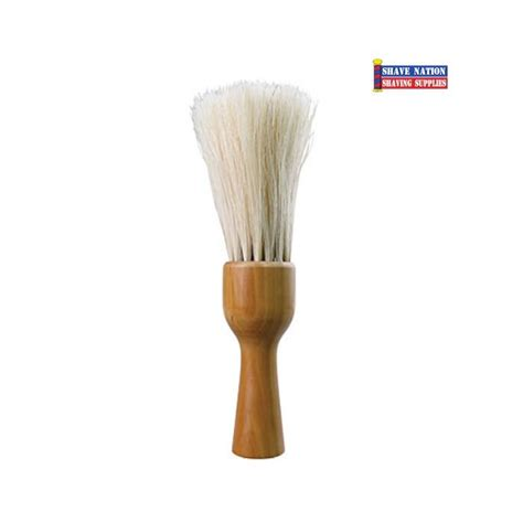 S F Neck Duster Brush by Diane Neck Duster Brush With Wood Handle Shave Nation