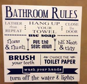 Bathroom Etiquette Bathroom Etiquette Sign Just B Cause