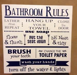 Bathroom Etiquette by Bathroom Etiquette Sign Just B Cause