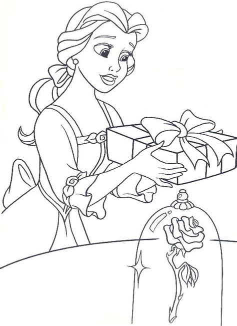 belle christmas coloring page 268 best images about disney coloring pages on pinterest