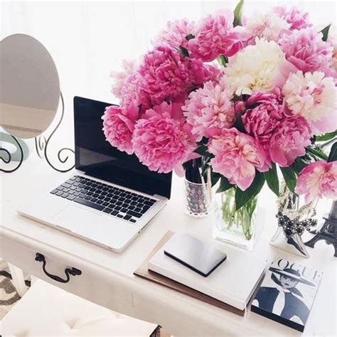 flowers on desk image 4403043 by lucialin on favim