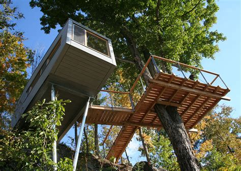 modern tree house design the cliff house is an eco treehouse wrapped around a maple tree 6sqft