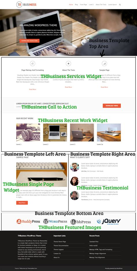 Thbusiness Theme Documentation Yahoo Business Website Templates