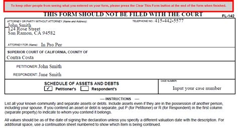 California Divorce Records Information California Divorce Form Fl 142 Cristin Lowe