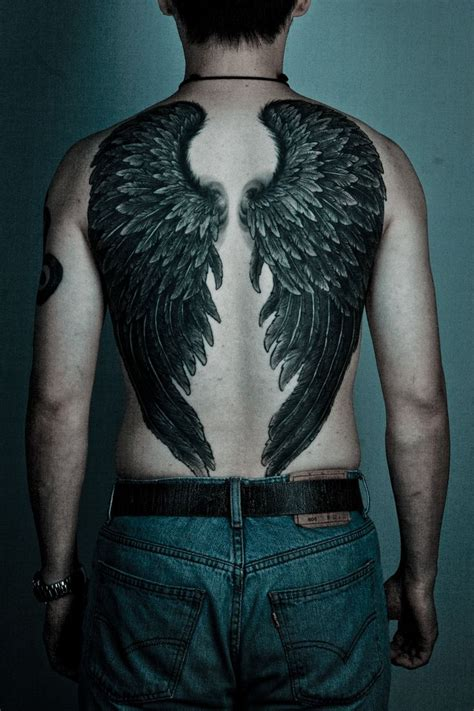 angel wing tattoo on back back tattoos for ideas and designs for guys