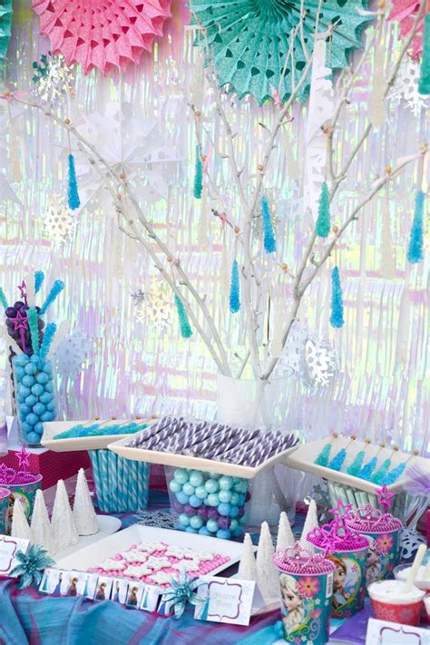 frozen themed party venue kara s party ideas disney s frozen themed birthday party