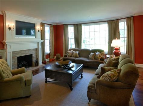 khaki living room rariden schumacher mio interior design bright living room orange and khaki rsm interior