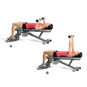 bench press and dumbbell press superset 2a dumbbell chest press women s health magazine
