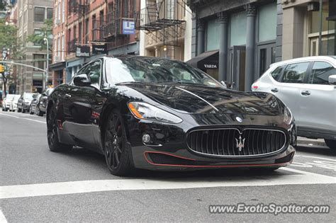 maserati granturismo spotted in manhattan new york on 08