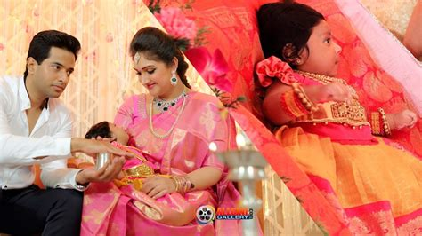 actress asin baby shower sridevi vijayakumar baby daughter rupikaa photos naming