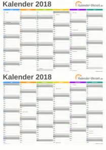 Kalender 2018 Zum Ausdrucken Und Bearbeiten Excel Kalender 2018 Freeware De