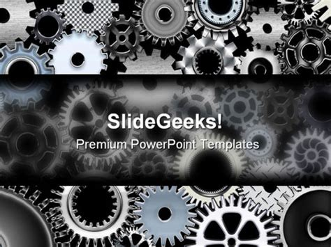 powerpoint themes industrial many gears industrial powerpoint template 0810