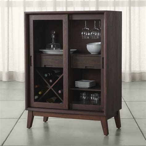 Indoor Bar Cabinet Steppe Bar Cabinet Crate And Barrel