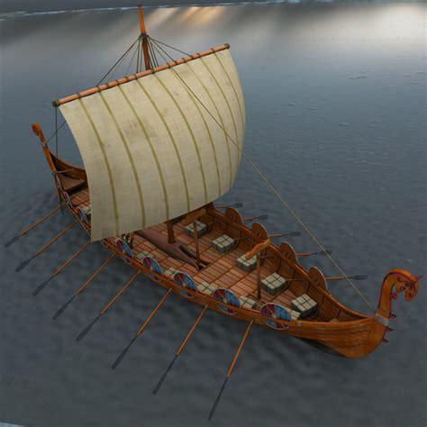 viking longboat model 3d viking ship boats model