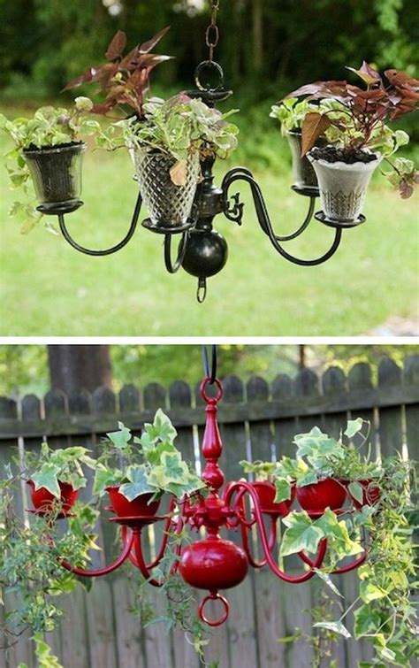 Creative Chandelier Ideas 25 Best Ideas About Chandelier Planter On Diy Yard Decor Tire Garden And Diy