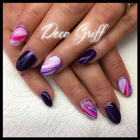 Deco Ongle Violet by Ongle Plein Nail D 233 Co Design Violet Classe Ongle