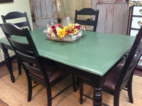 Blue Kitchen Table Set Farm Style Table Country Kitchen Table Set Distressed Furniture