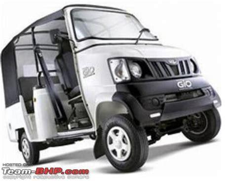 mahindra loading vehicle mahindra gio passenger version launched team bhp