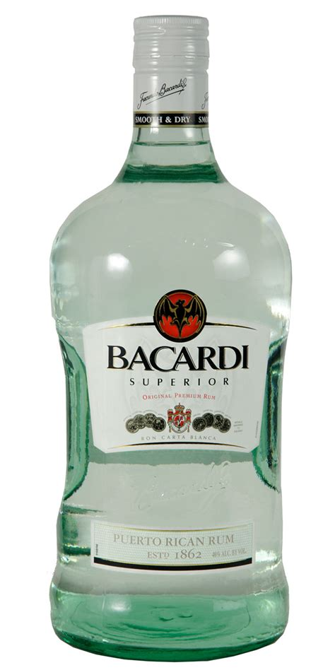 bacardi light rum 1 75l