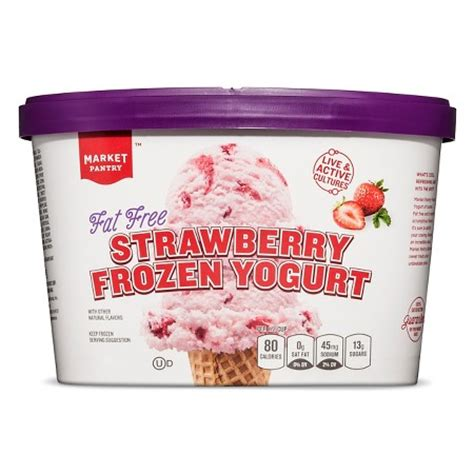 free strawberry frozen yogurt 1 5 qt market pantry