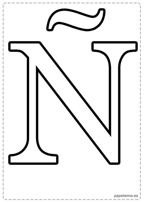 letras grandes para imprimir related keywords suggestions letras letra n wallskid