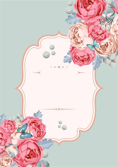 Wedding Background Themes pink flower theme wedding poster background template pink