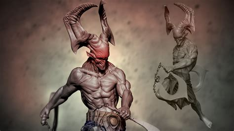 zbrush tutorial creature sculpting a demonic creature in zbrush pluralsight