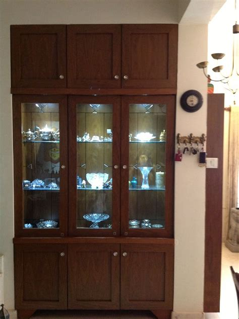 Design Of Cupboards - crockery unit made to order in a niche that existed along