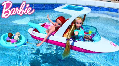 barbie ship videos barbie cruise ship in the swimming pool with mermaid ariel