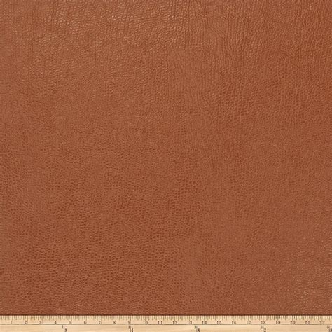 buy leather upholstery fabric trend 03343 faux leather cognac discount designer fabric
