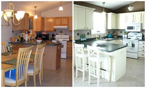 Before And After White Kitchen Cabinets Painted Oak Kitchen Cabinets Painted White Cathedral Style Before And After By I Organizing