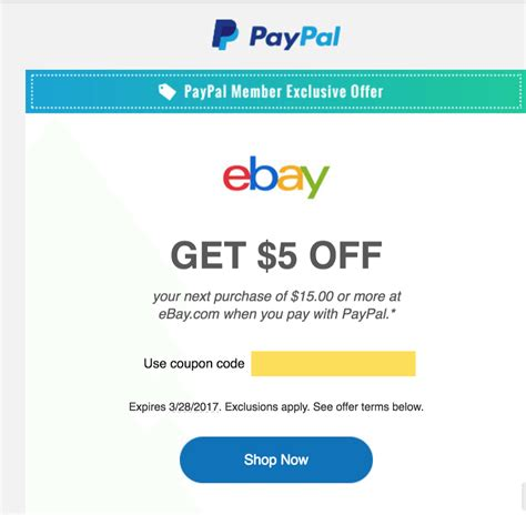discount voucher on ebay ebay 5 off 15 targeted email offer doctor of credit