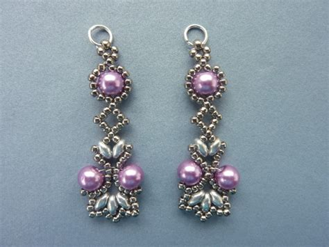 free beaded earring patterns free beading pattern lotus lace earrings seed bead