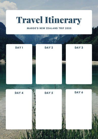 family travel itinerary template calendar picture templates