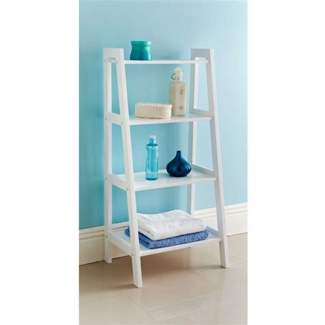 Maine Ladder Shelf Storage Bathroom Furniture B M Bathroom Ladder Shelves