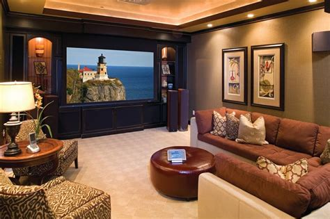 home theater decorating basement entertainment room future house pinterest