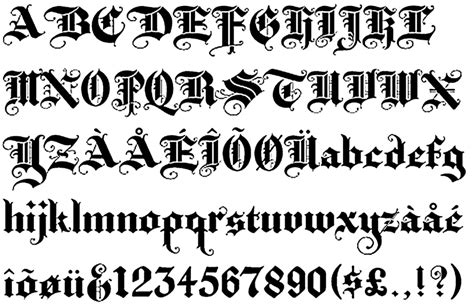 Tattoo Old English Alphabet | image gallery old english tattoo letters