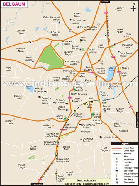 road map from mapusa to belgaum belgaum city map city map of belgaum
