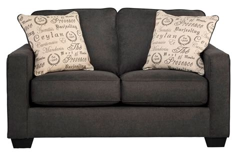 charcoal loveseat alenya charcoal loveseat from ashley 1660135 coleman