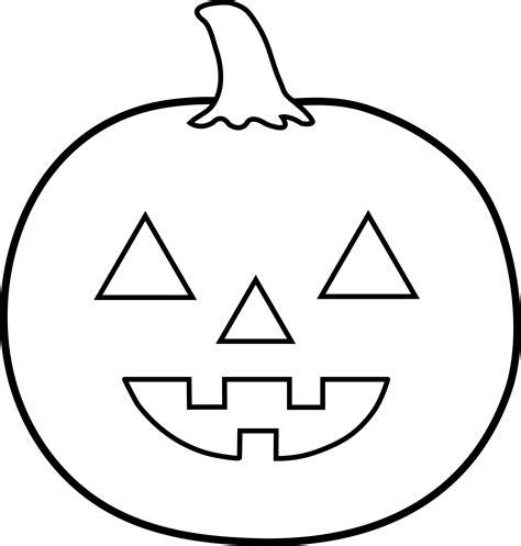 halloween jack o lantern for coloring free clip art