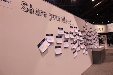pictures of ideas cespool haier s quot share your ideas quot wall gizmodo australia