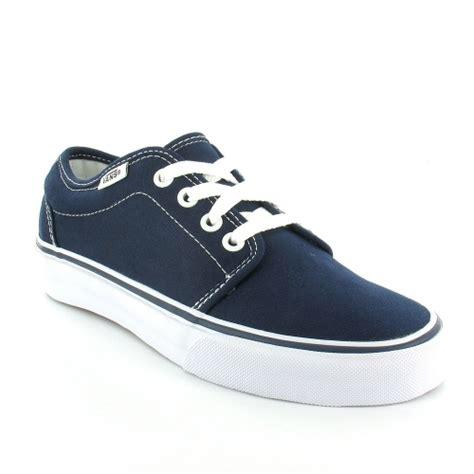 vans deck shoes vans 106 vulcanized unisex 4 eyelet deck shoes navy blue