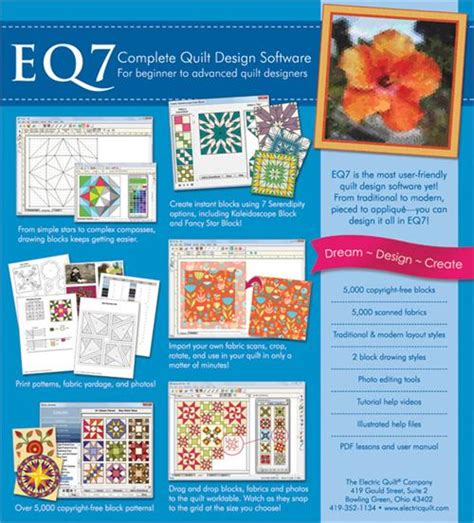 Eq7 Quilting Software by Electric Quilt 7 Software For Quilters At Everything Quilts