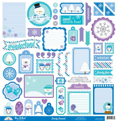 Doodlebug Design Frosty Friends This And That Stickers