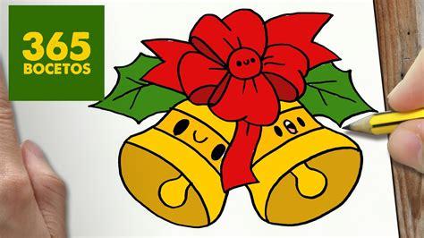 imágenes de navidad kawaii como dibujar campana para navidad paso a paso dibujos