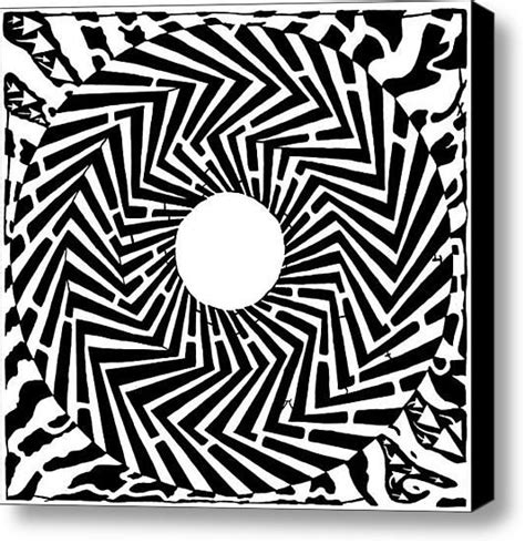 optical illusion coloring pages for adults trippy optical illusion swirly maze canvas print canvas