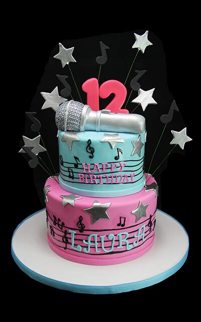 Popstar Two Tiered Cake   Butterfly Bake Shop in New York