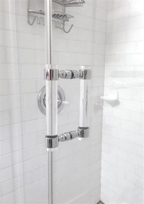 Shower Door Pull Handle Lucite Chrome Or Brass Shower Door Pull Handles